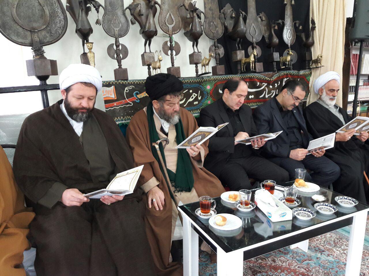 مراسم ارتحال آیت الله هاشمی رفسنجانی در مزار شهدای شهرستان فومن به روایت تصویر