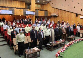 """همایش """"پلیس، اصناف و امنیت"""" درفومن برگزار شد"""