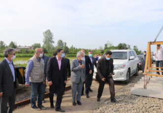 بازدید معاون رئیس جمهور و رئیس سازمان برنامه و بودجه کشور از پروژه راه آهن رشت-کاسپین