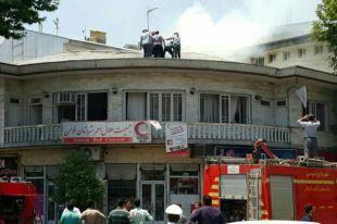 آتش سوزی در ساختمان جمعیت هلال احمر فومن