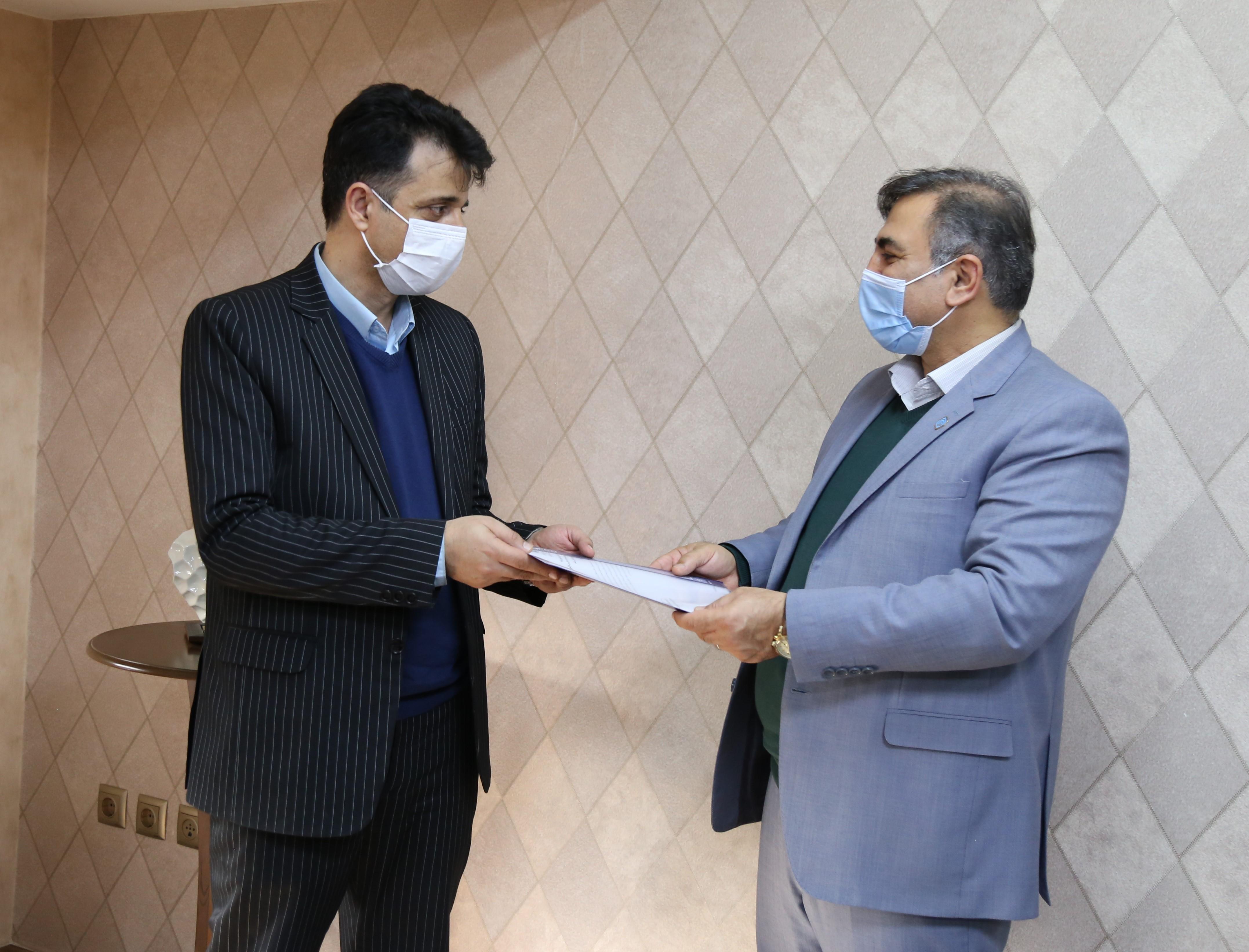 مراسم معارفه رئیس جدید تامین اجتماعی شعبه شهرصنعتی رشت