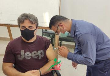اتمام تزریقمرحله دوم واکسن«ایران برکت» خبرنگاران فومنی+تصاویر