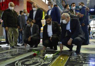 از ادای احترام به مقام شامخ شهیدانتا بازدید از پروژه های راه آهن رشت ـ کاسپین