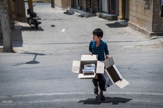 خیابانها و چهار راه های گیلان برای کودکان کار نا امن می شود