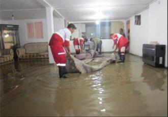 امدادرسانی به منازل مسکونی دچار آبگرفتگی در شهرستان تالش