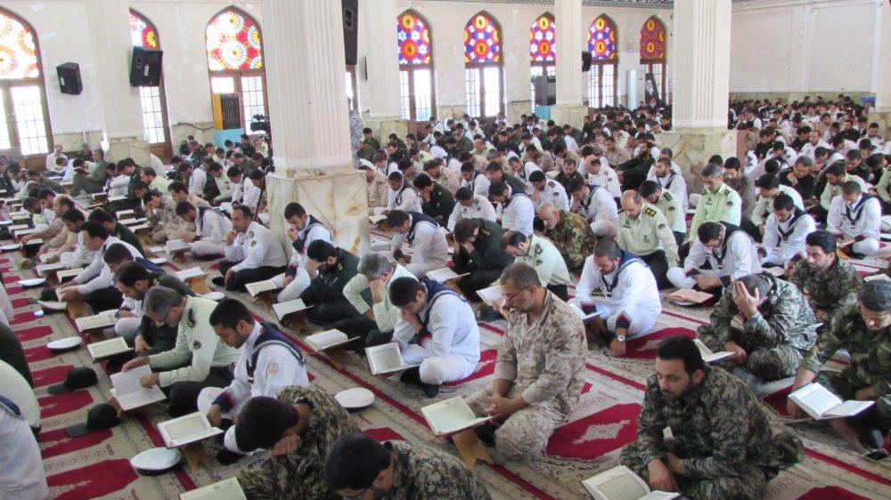 محفل بزرگ انس با قرآن نیروهای مسلح گیلان به مناسبت آزادسازی خرمشهر + تصاویر