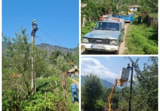 برخورداری ساکنین دو روستای کم برخوردار شهرستان فومن از طرح جهادی احداث ۲۰۰۰ متر کابل خودنگهدار