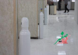 اهدای ۳۰ کپسول اکسیژن توسط سپاه به بیمارستان امام رضا (ع) شفت