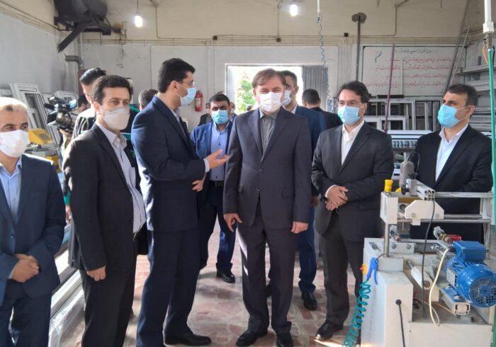 بازدید از مراکز آموزش فنی و حرفهای و افتتاح دهکده کودک در رشت