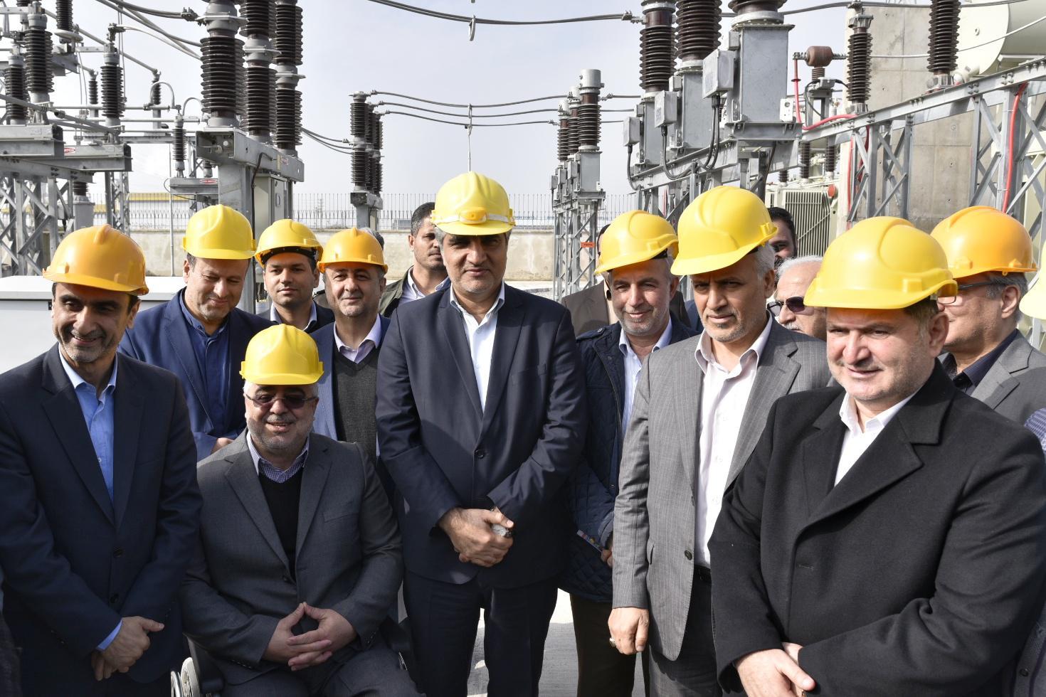 افتتاح و آغاز عملیات اجرایی سه پروژه ملی و زیربنایی برق منطقه ای گیلان