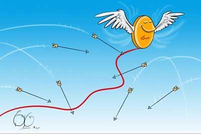 سکه چهار میلیون تومان را رد کرد/ دلار نرخ تاریخی ۱۰ هزار تومان را رد کرد