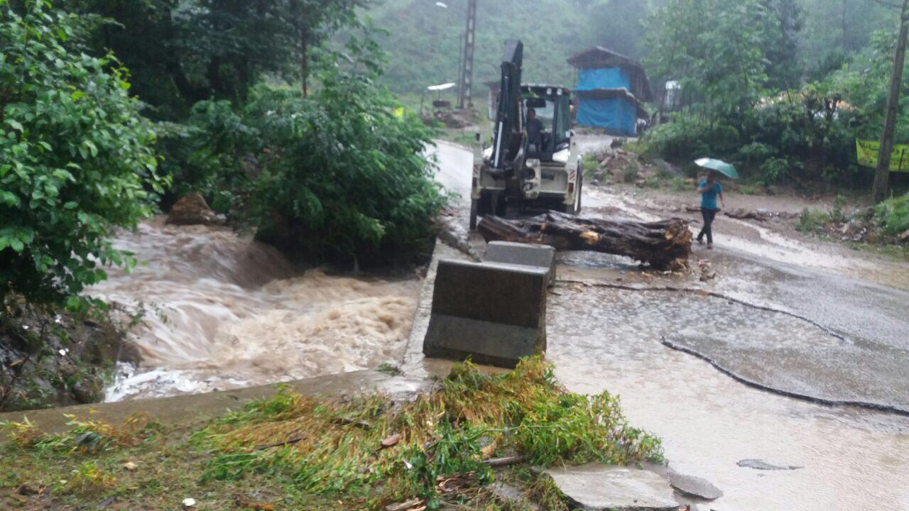 از  خسارات سیل در شهرستان  فومن