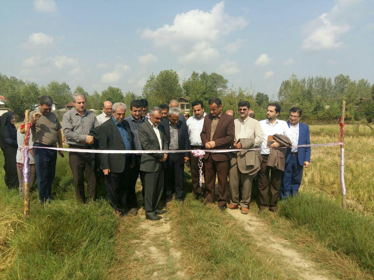 اراضی کشاورزی روستای الاسرفومن تجهیز و نوسازی شد