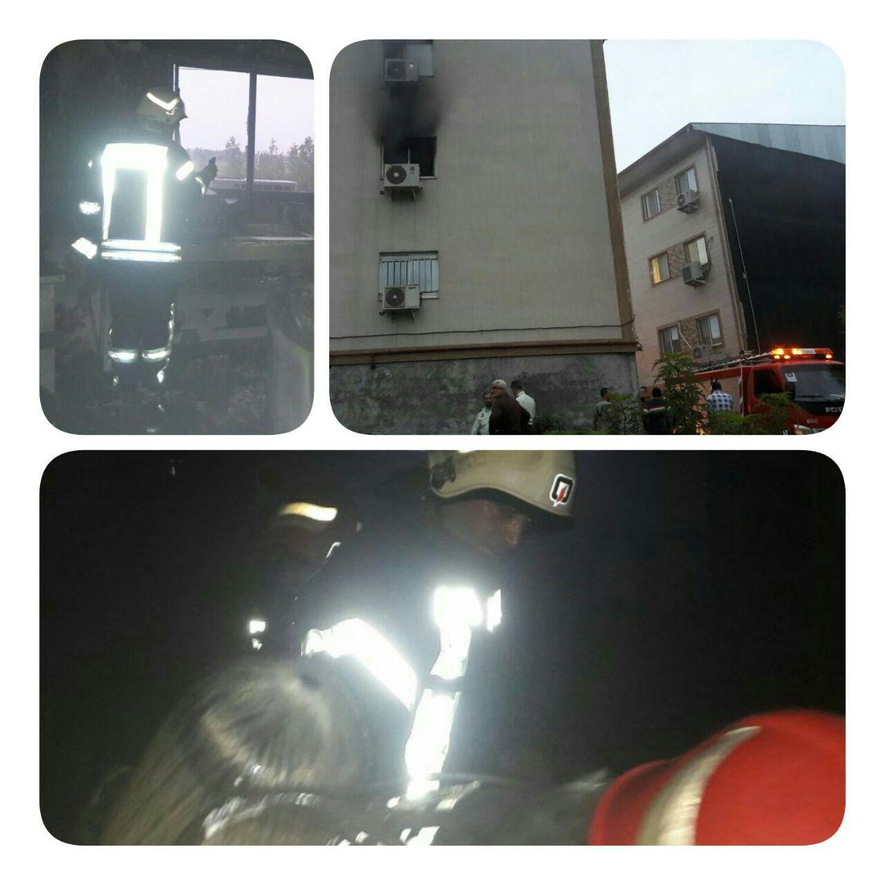 آتش سوزی شدید چند خانه در رشت