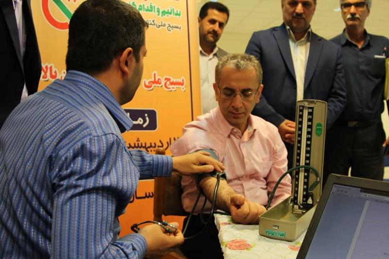 رئیس دانشگاه علوم پزشکی و خدمات بهداشتی درمانی گیلان به پویش ملی کنترل فشار خون بالا پیوست